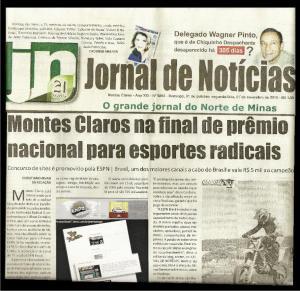 Matéria publicada no Jornal de Notícias de M. Claros (clique p ampliar)